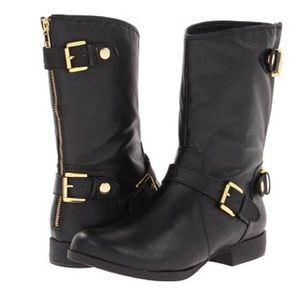 Steve Madden Enngage Leather Moto Boots - Sz 10